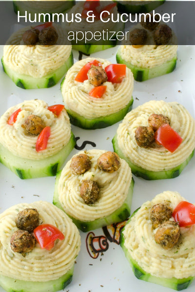 hummus and cucumber app