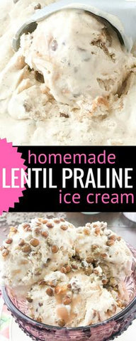 lentil praline ice cream