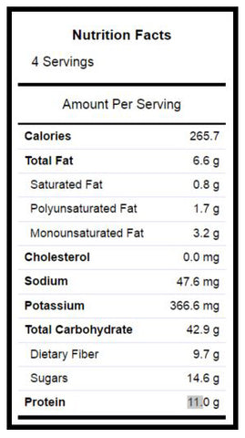 roasted garbanzo bean nutritional facts