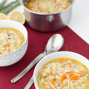 garbanzo bean soup with orzo