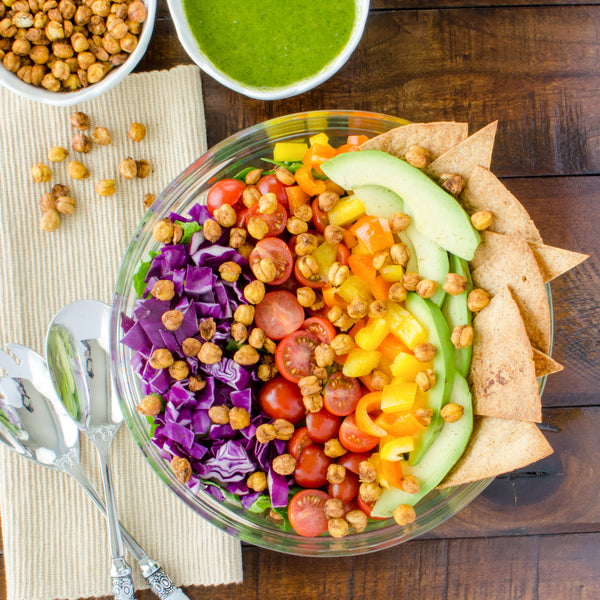 chickpea vegan taco salad