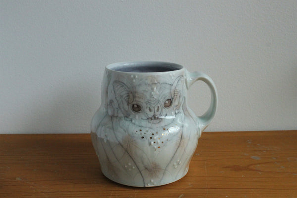 Sm. China Painted Mug - Bat 2