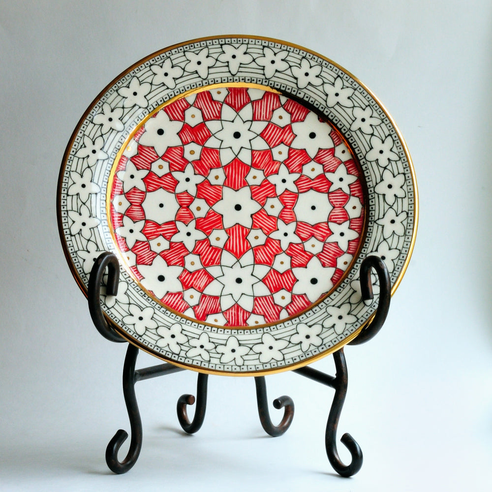 Porcelain Plate - Red