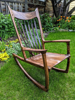 Curly Walnut & Ziricote Rocker
