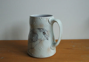 Lg. China Painted Mug - Songbird