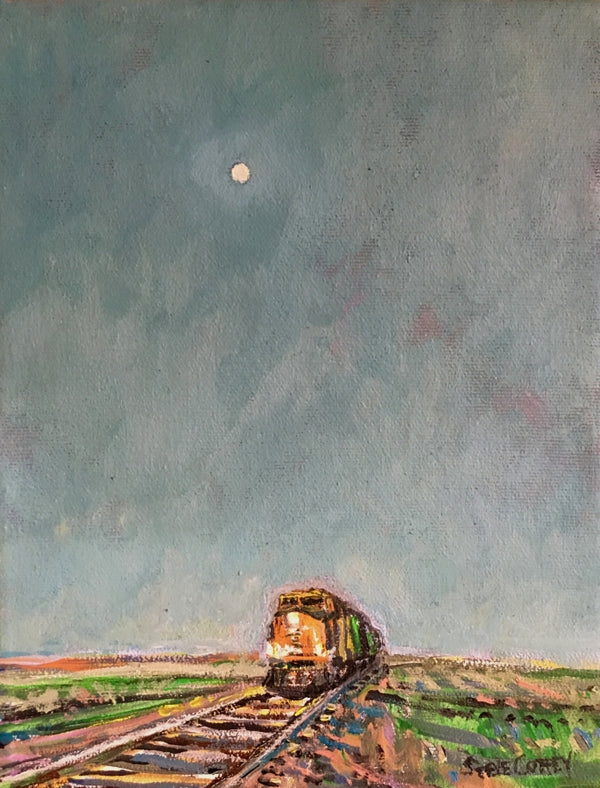 Dusk Moon And Train