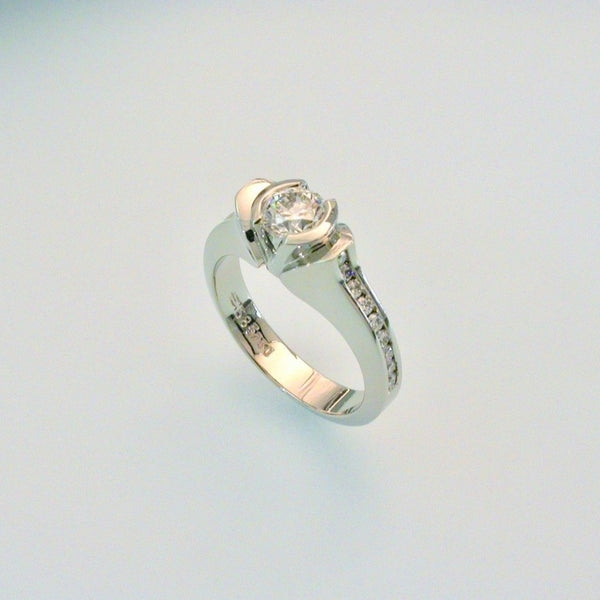 White gold and diamond ring, size 6.5
