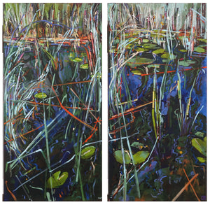 in the reeds (diptych)