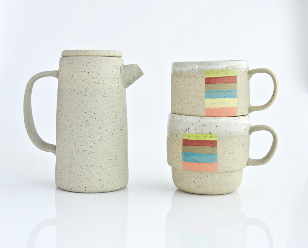 Speckled Pitcher w/ Lid