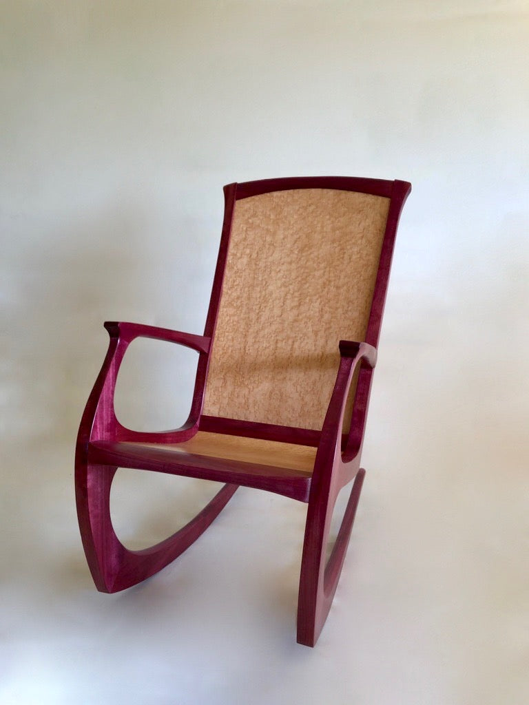 Rocking Chair - Purple Heart & Bird's Eye Maple