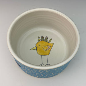 Porcelain Ramekin with Yellow Bird