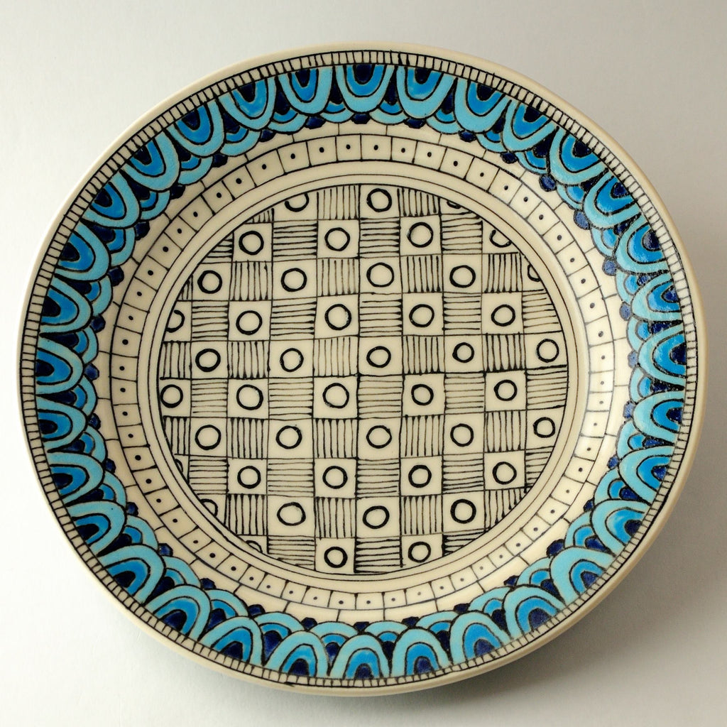 Porcelain Plate with Blue and Gold
