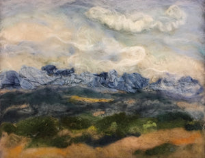 Rocky Mountain Vista - felted landscape