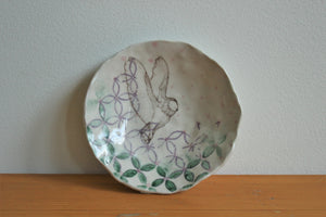 Ring Dish w/ China Paint