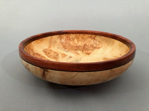 Reverse Rim Maple Bowl