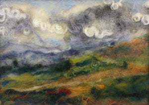 Late Summer - felted landscape