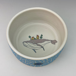 Porcelain Ramekin with Grey Whale