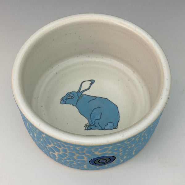 Porcelain Ramekin with Blue Bunny