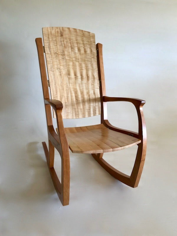 Rocking Chair - Cherry & Quilted Maple