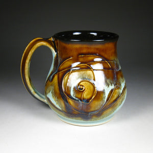 Large Mug - Amber/Green Short