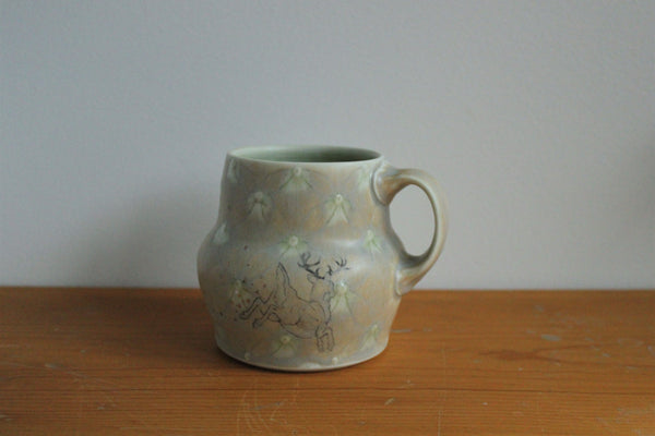 Sm. China Painted Mug - Deer