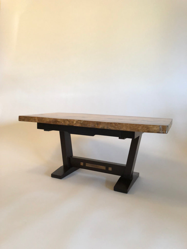 Live-edge Myrtle & Wenge Table