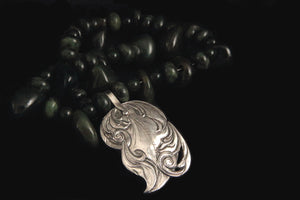 Sculpted Leaf Pendant