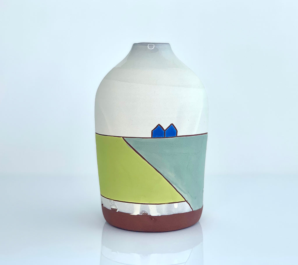Bottle Vase w/landscape