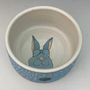 Porcelain Ramekin with Peeking Bunny