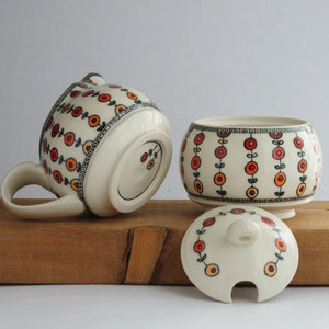 Porcelain Creamer & Lidded Sugar Jar 20-344