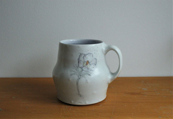 Sm. China Painted Mug - Crocus
