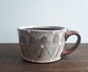 Dark Clay and Slip Mug 1