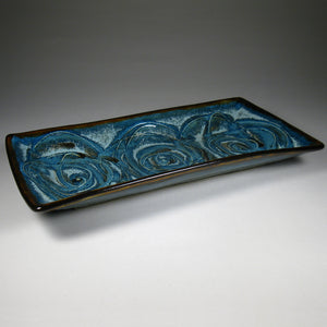 Small Rectangular Platter Blue