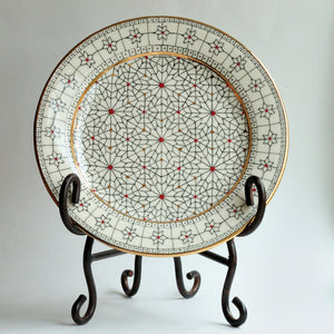 Porcelain Plate w/ Gold Trim 19-4