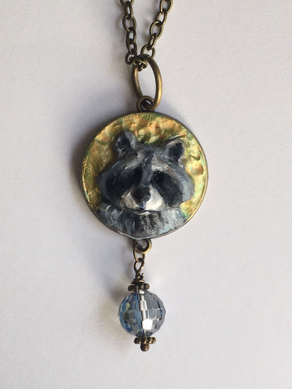 Necklace - Raccoon with Bobble