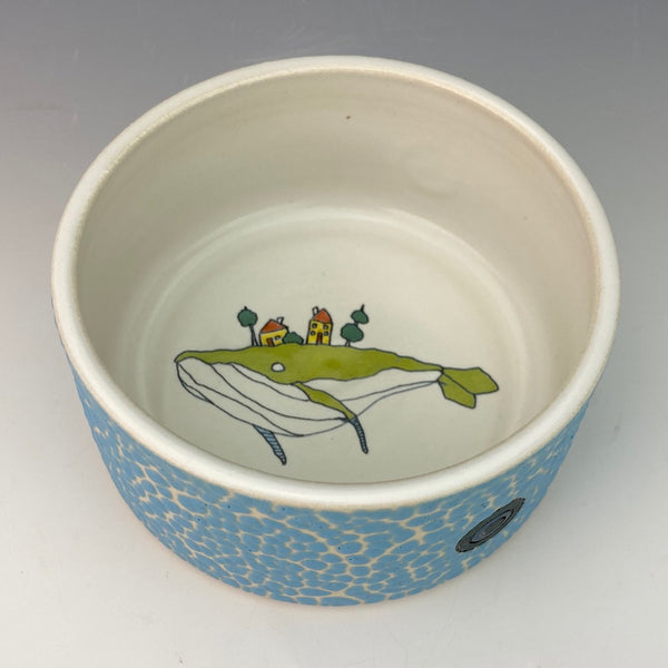 Porcelain Ramekin with Green Whale