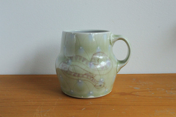 Sm. China Painted Mug - Snake 6