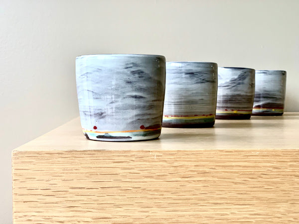 Winter Skies Whiskey/Scotch Cups