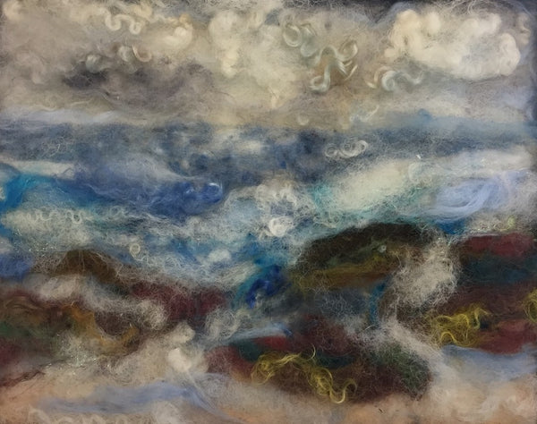 Crashing Waves - Felted Landscape