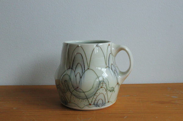 Sm. China Painted Mug - Snake 7
