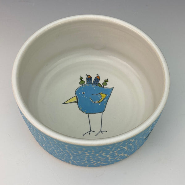 Porcelain Ramekin with Blue Bird