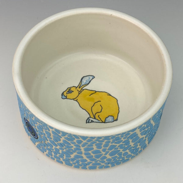 Porcelain Ramekin with Yellow Bunny