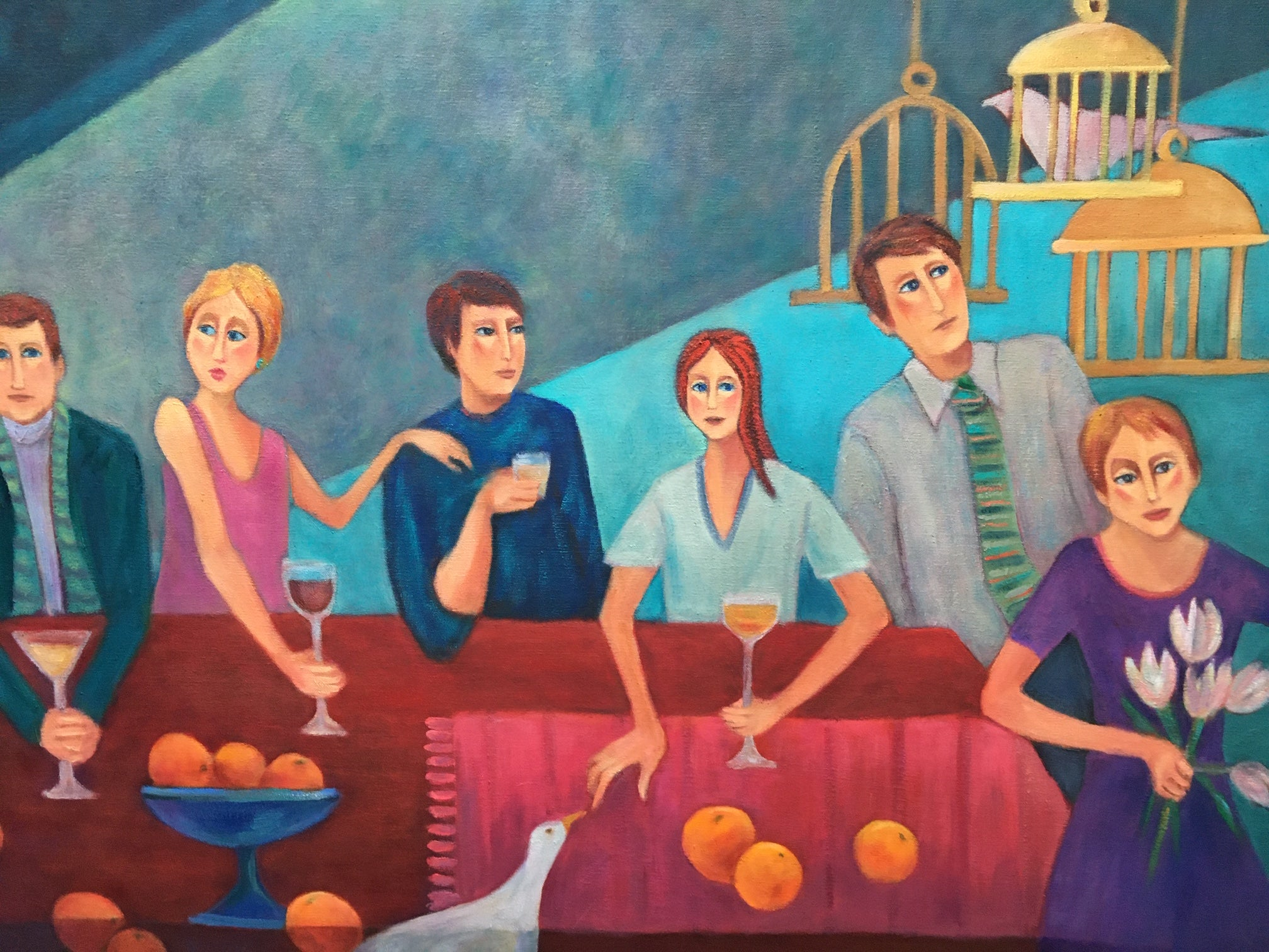 Dinner Party with Oranges