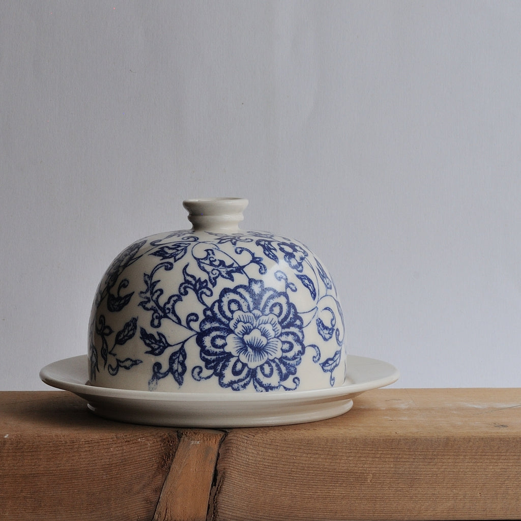 Butter Dish - Blue Floral