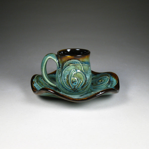 Espresso Cup w/Saucer - Green