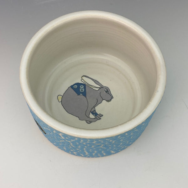 Porcelain Ramekin with Racing Bunny