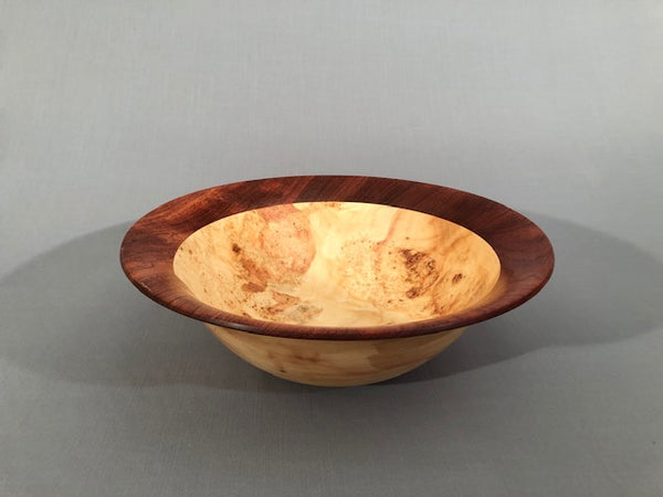 Maple Burl Flared Bowl