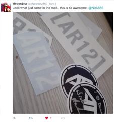 2 AR12 Club Decals (Free Shipping!)