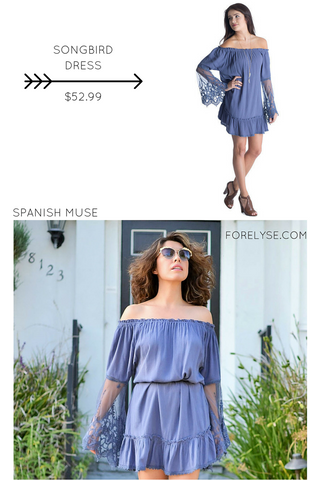 Songbird Dress Off the Shoulder