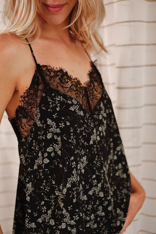 Way With Words Printed Lace Cami